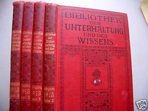 4 bd bibliothek der unterhaltung und des wissens 1913 ebay. Black Bedroom Furniture Sets. Home Design Ideas