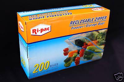 200 10-9/16x11 Zip Bags Lock Freezer Storage Gallon ++
