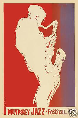 Jazz: Monterey Jazz Festival Concert Poster 1964