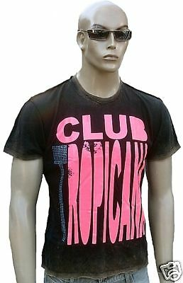 Strass AMPLIFIED WHAM Club Tropicana Rock Star Dirty Bleached Design T-Shirt M