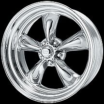(4) American Racing TORQUE THRUST II Wheels Torq 17x7 & 8 staggered