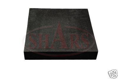 "SHARS 12 X 18"" GRANITE GRADE B SURFACE PLATE NO LEDGE .0002"" NEW"