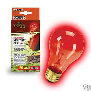 details about zilla 50 watt red reptile night light heat bulb lamp. Black Bedroom Furniture Sets. Home Design Ideas