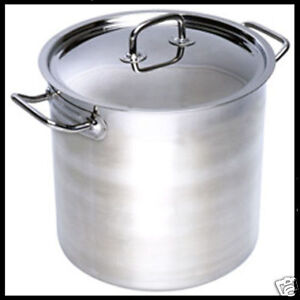 Brand New 20Lt Top Grade Thick Stainless Steel Stock Pot 30CM 18/10 RRP $245 ★★★