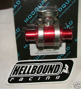 Billet-inline-cooler-with-temp-gauge-Honda-TRX250r-250r