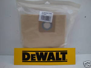 PACK-OF-5-DEWALT-D279001-DUST-COLLECTION-BAGS-FOR-D27900-DUST-EXTRACTOR