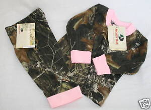 MOSSY OAK CAMO T-SHIRT w/ PINK TRIM AND MATCHING PANTS - BABY, TODDLER GIRLS