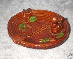 Squirrel Ceramic Ashtray Japan Acorns Oak Wood Canada Ebay