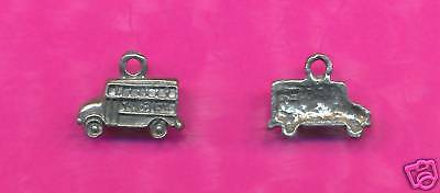 100 wholesale lead free pewter school bus charms 1215