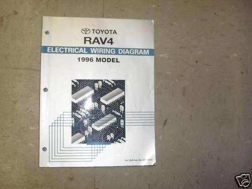 1996 Toyota Rav4 Rav 4 Electrical Wiring Diagram Troubleshooting Manual Ewd