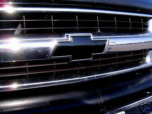 VINYL SHEETS 00-06 Tahoe Chevy Z71 Black Bowtie grille emblem decal kit
