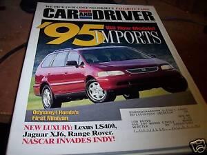 Car-and-Driver-11-1994-Odyssey-Honda-039-s-first-Minivan