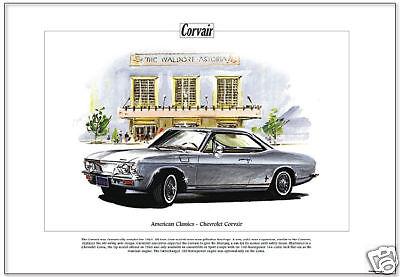 American Classics - 1965 CHEVROLET CORVAIR - Art Print