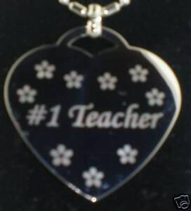 1-TEACHER-Heart-Dog-Tag-Pendant-Necklace