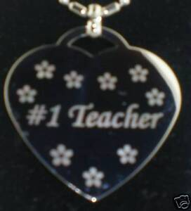 1-TEACHER-Heart-Dog-Tag-Pendant-Necklace