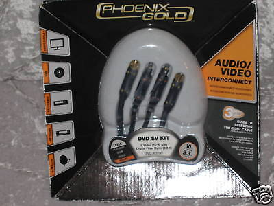 Phoenix Gold Audio Video Interconnect Dvd Sv Kit 10 Ft.