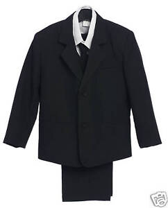 NEW-LT-BLACK-SUIT-BOY-TUXEDO-SZ-S-M-L-XL-2T-3T-4T