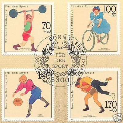 Brd 1991: Sporthilfemarken Nr. 1499-1502 Mit Bonner Ersttagssonderstempel! 1a!
