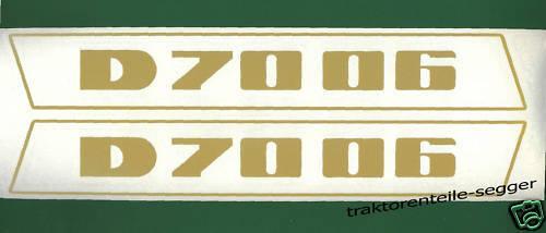 Deutz Aufkleber 7006 Haubenaufkleber Traktor NEU  Foto 1