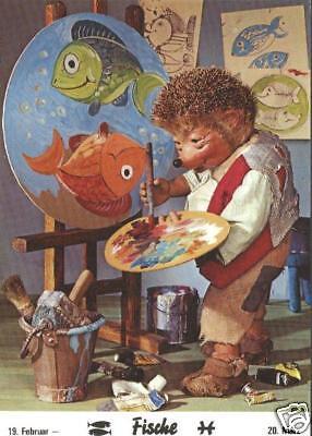 AK Mecki original Diehl Nr. 1012 neu ungelaufen Fische Maler Künstler Gemälde