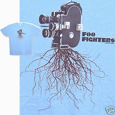 "FOO FIGHTERS ""FILM CAMERA"" IMAGE LIGHT BLUE T-SHIRT XL X-LARGE NEW DAVE GROHL"