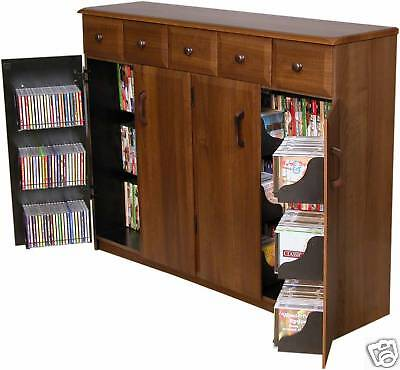 cd storage cabinet cd dvd storage cabinet rack tv stand w drawers new ebay 13294
