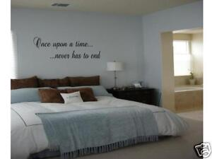 once upon a time never has to end wall decal home decor