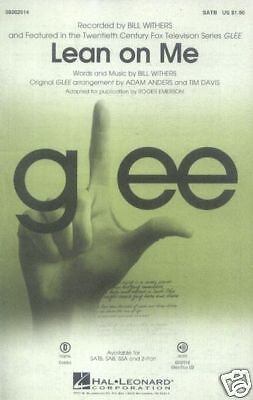Lean on Me GLEE Bill Withers Noten für Chor SATB/PF Roger Emerson (Arr.)