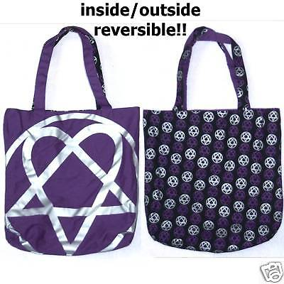 HIM H.I.M. HEARTAGRAM LOGO REVERSIBLE TOTE BAG NEW RARE on Rummage