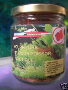 Nourriture flocon pour poissons exotique aquarium 228ml ebay for Flocon poisson