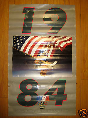 Vintage Levis Outfitter For 84 Usa Olympics Orig Poster Nice