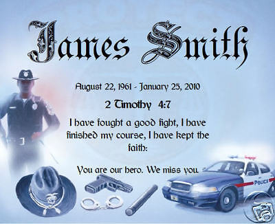 we create a loving personalized memorial for a police officer on this