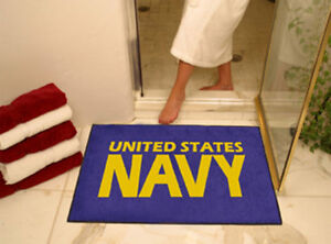"US NAVY NAVAL LOGO 33"" X 45"" BATH TUB MAT RUG WALL ART"
