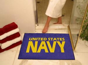 "US NAVY NAVAL LOGO 33"" X 45"" BATH TUB MAT RUG WALL ART"