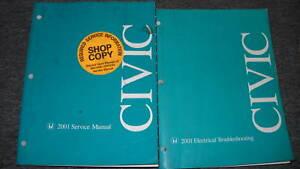 2001-HONDA-CIVIC-Service-Shop-Repair-Manual-Set-OEM-FACTORY-DEALERSHIP-BOOKS