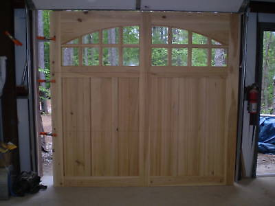 9x7 cypress carriage house garage door for 12x7 garage door