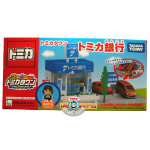 TOMICA-TOWN-SCENE-BANK-OFFICE-WITH-PLAKIDS-FIGURE