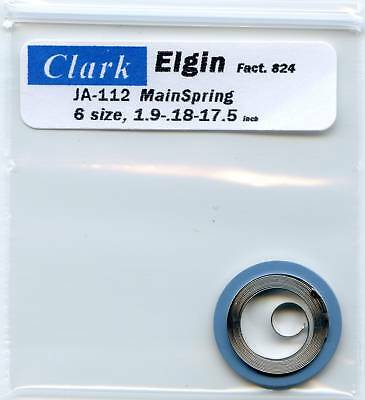 Elgin 6 Size Mainspring Ja-112 Factory 824 Dbh clark