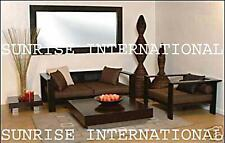 Furniture - Stylish Wooden Sofa set 2 + 1 + 1 + Center table + 2 side table !
