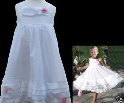Kate Mack Simply Stunning White Portrait Dress 4t 5t 100% Cotton Voile