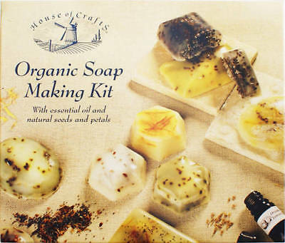 ORGANIC HAND MADE SOAP MAKING KIT BY HOUSE OF CRAFTS SCENTED MOULD DYE PETALS