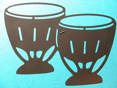Bongo Metal Wall Art Music Musical Decor Drums Room