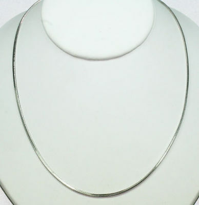 Danecraft Sterling Silver 18 Flat Snake Chain Necklace