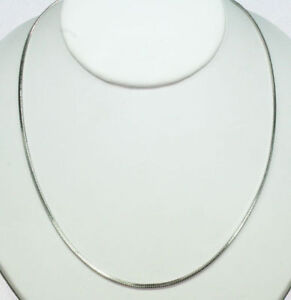 DANECRAFT-STERLING-SILVER-18-FLAT-SNAKE-CHAIN-NECKLACE