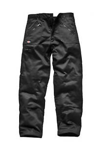2-X-Dickies-Action-Work-Trousers-Redhawk-Black-WD814