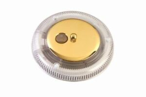 6-Round-13-Watt-Fluorescent-Light-12-Volt-Camper-Trailer-Brass-Cargo-RV