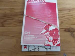 2001-Honda-TRX250-Owners-Manual-TRX-250-Fourtrax-Recon