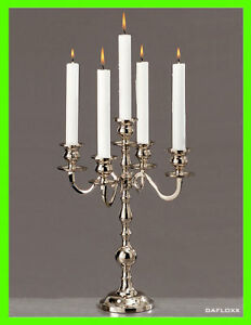 35cm 5 ARM Silver Candlestick Candle Holder Wedding Table