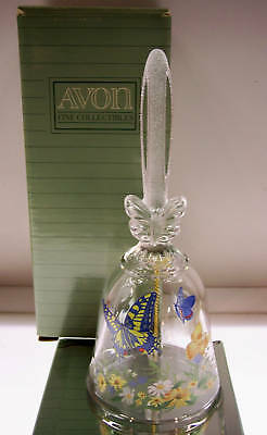 Avon CRYSTAL BELL 1990 dated BUTTERFLY  w/Bx * FREE SHIP