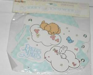 Image Is Loading NEW PRECIOUS MOMENTS BABY SHOWER DECORATIONS BANNER 5FT